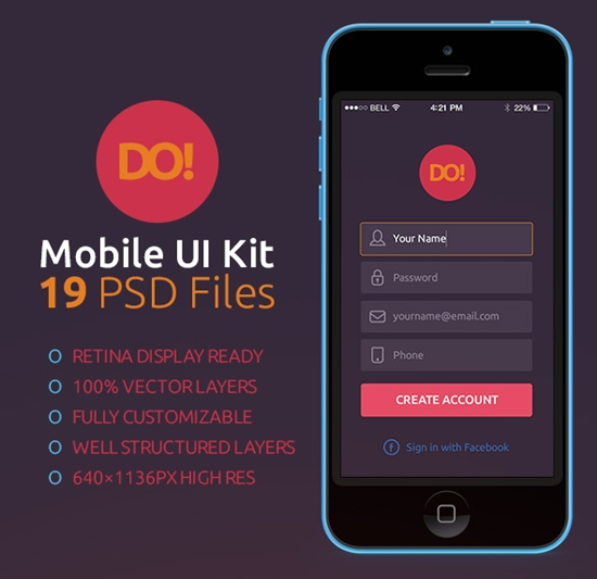 Free-Mobile-UI-Kits-28