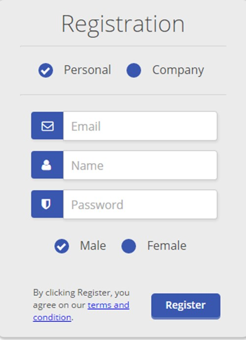5) CSS Registration Form