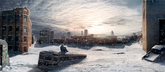 Making a Panoramic Scene of Post-Apocalyptic Photo