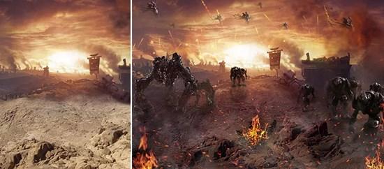 Making an Alien Battle Scene