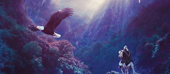 Manipulation for a Beautiful Mountain Scene