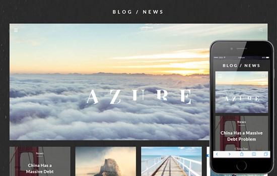 Azure_Blog_UI_kit