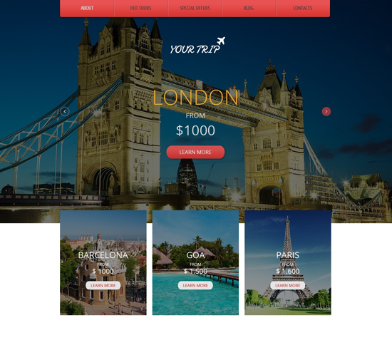 Your Trip-Free Responsive HTML5 Theme for Travel Agency-1