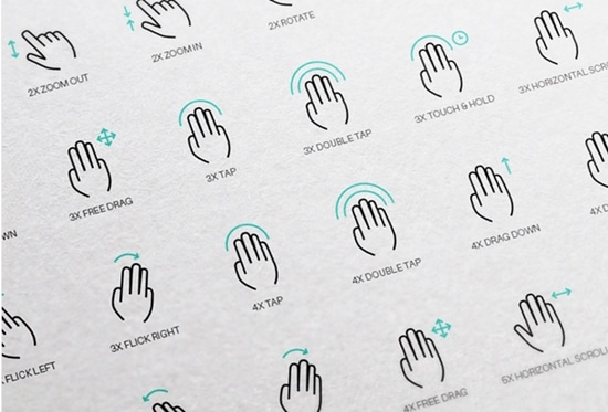 1) Free 56 Touch Gesture Vector Icons