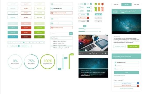 1) Minimal Design and Art Direction UI Kit