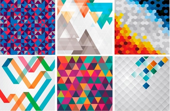 12) 21 Free Vector Geometric Backgrounds