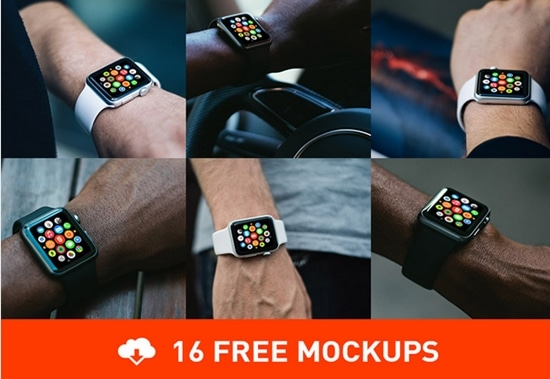 2) 16 Realistic Free Apple Watch Mockups
