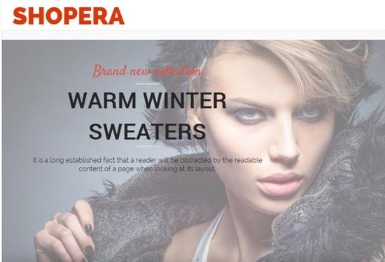 3) Shopera-Free Woocommerce Theme