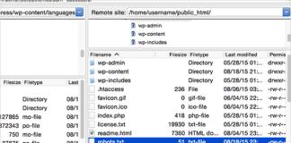 FTP client.