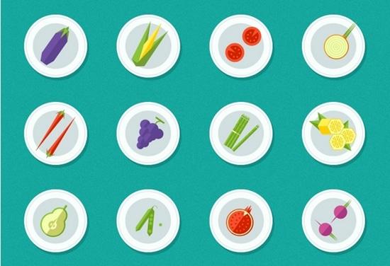 6) Fresh Vegetarian PSD Icon Set