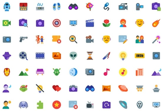 7) Free 200 Cinema Related SVG icon Set