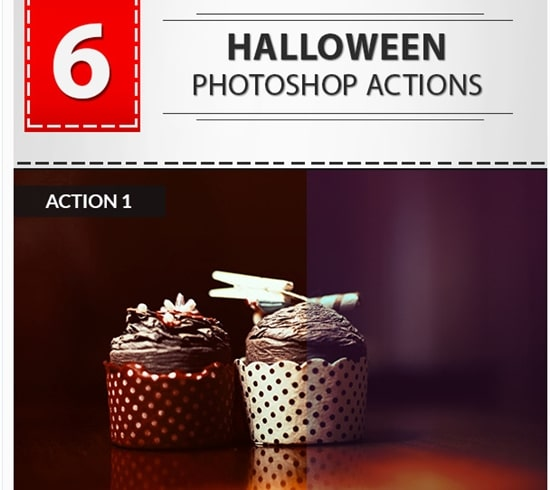 6 Halloween Photoshop Actions