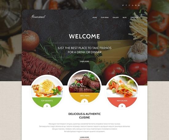 Gourmet Cuisine WordPress Theme