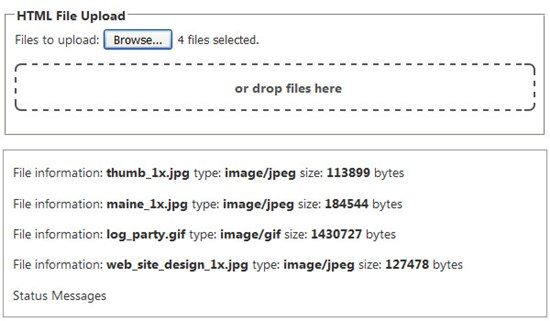 HTML5 files drag and drop