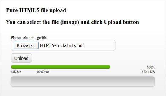 HTML5 files uploader