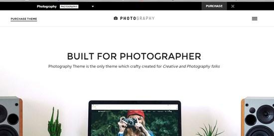 15) Photography Responsive photography theme