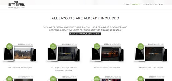 18) Brooklyn creative one page multipurpose theme