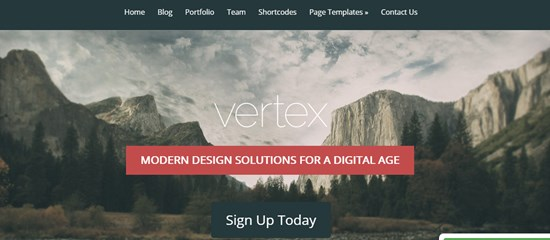 27) Vertex WordPress theme
