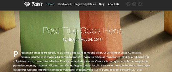 28) Fable WordPress theme