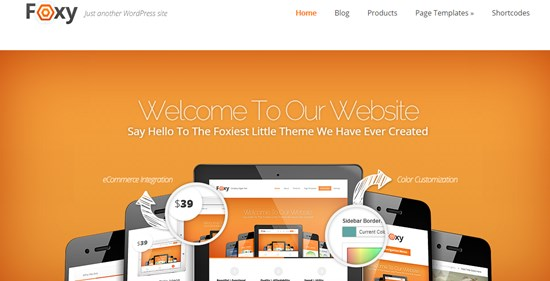 29) Foxy WordPress theme