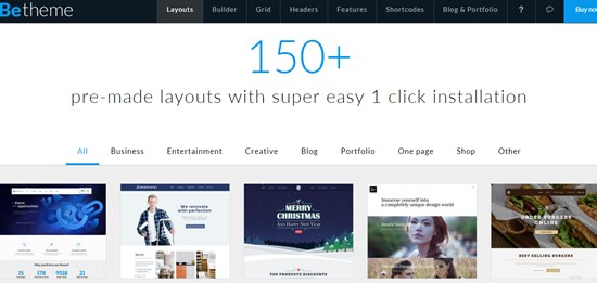4) Be-theme Responsive multipurpose WordPress Theme