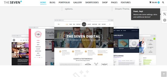 8) The7 Responsive multipurpose WordPress theme