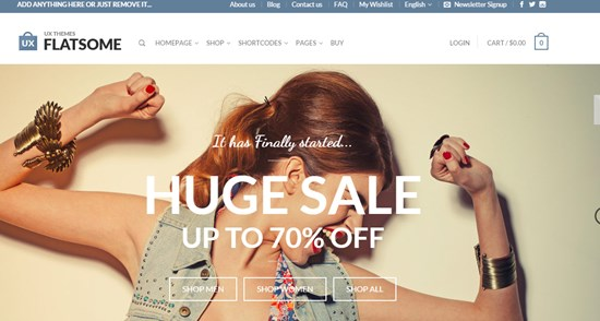 9) Flat-some Responsive Woo commerce theme