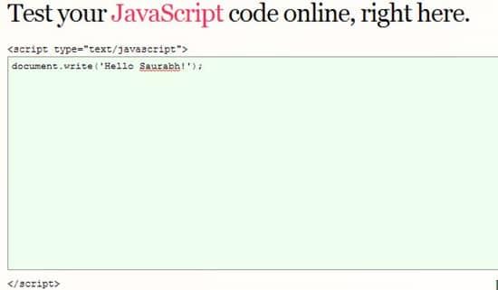 Write code online