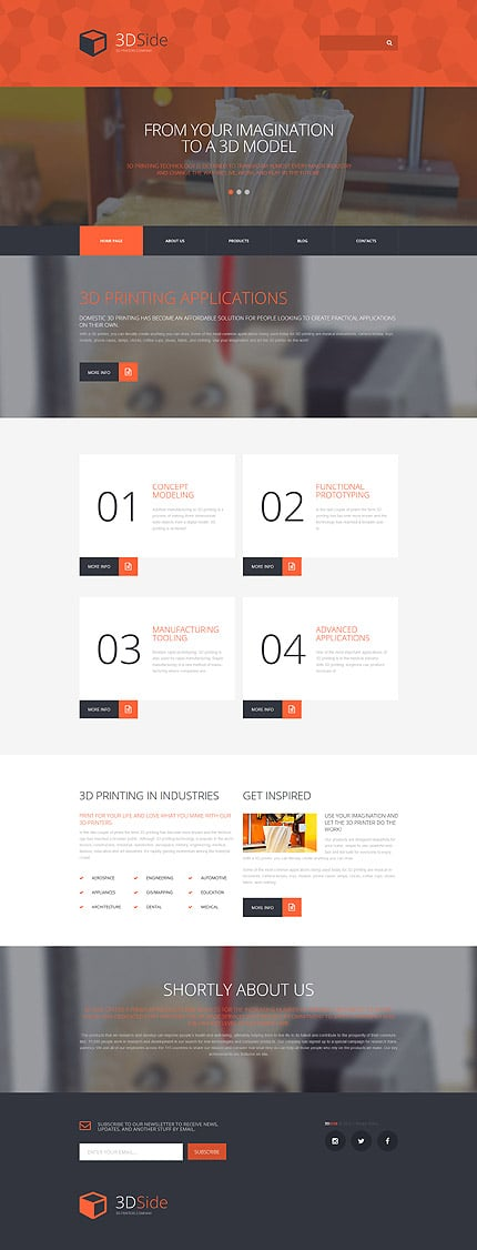 Print Shop WordPress Theme