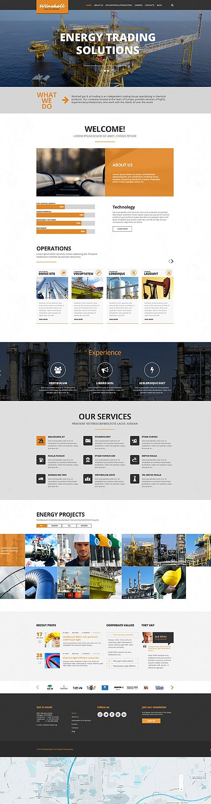 Gas and Oil Trading WordPress Theme