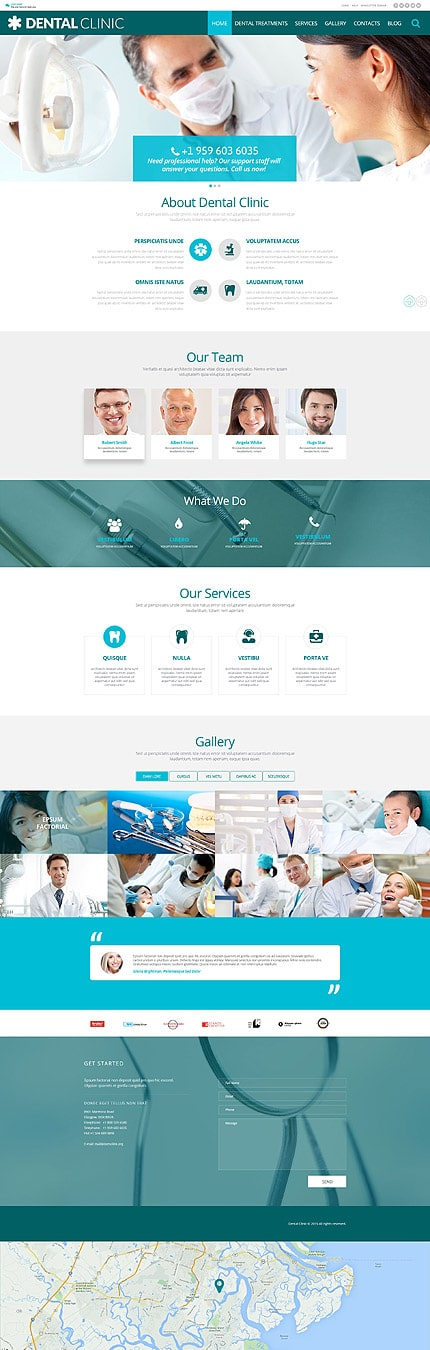 Dental Clinic WordPress Template