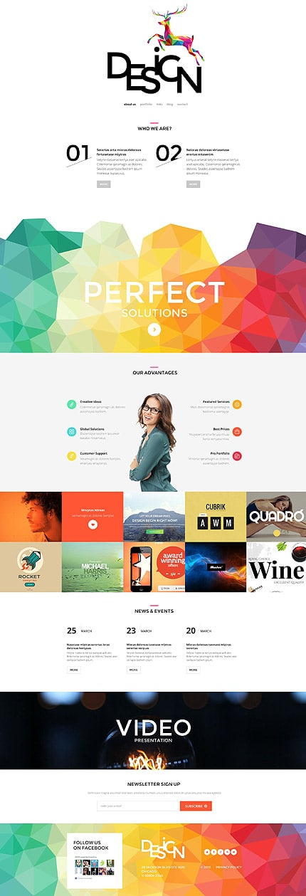 Website Design WordPress Template