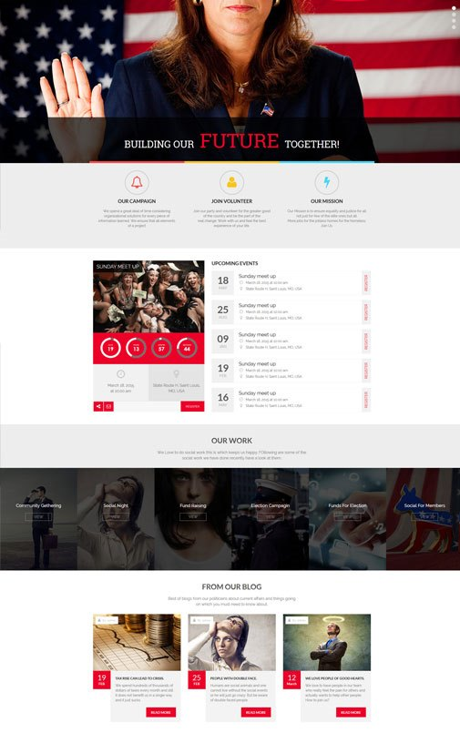 Politika – Political Candidate Profile HTML Template