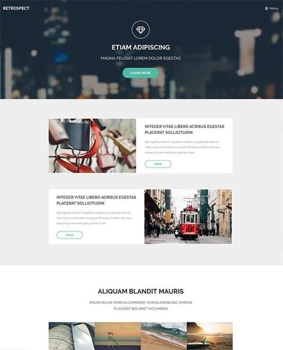 Retrospect-free-html5-template