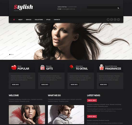 Stylish-Fashion-Band-Free-Bootstrap-Template