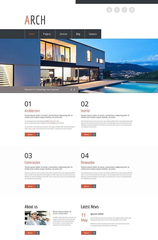 arch-free-html5-template