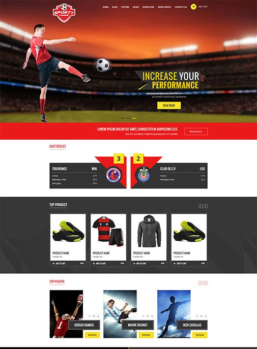 Sporty – Free Sports Magazine HTML5 And CSS3 Responsive Template