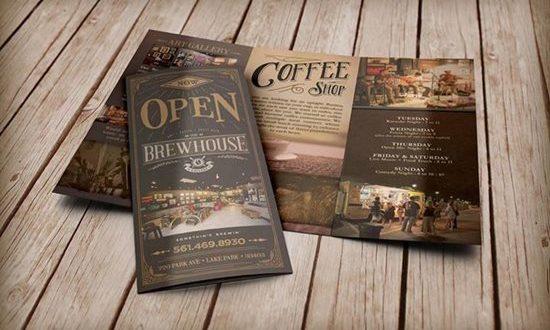 Creative Coffee Shop Brochure Designs