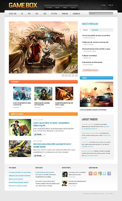 Game Portal Drupal Template