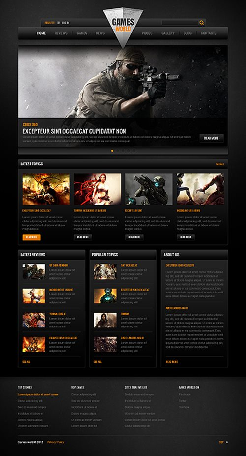 Game Portal Website Template