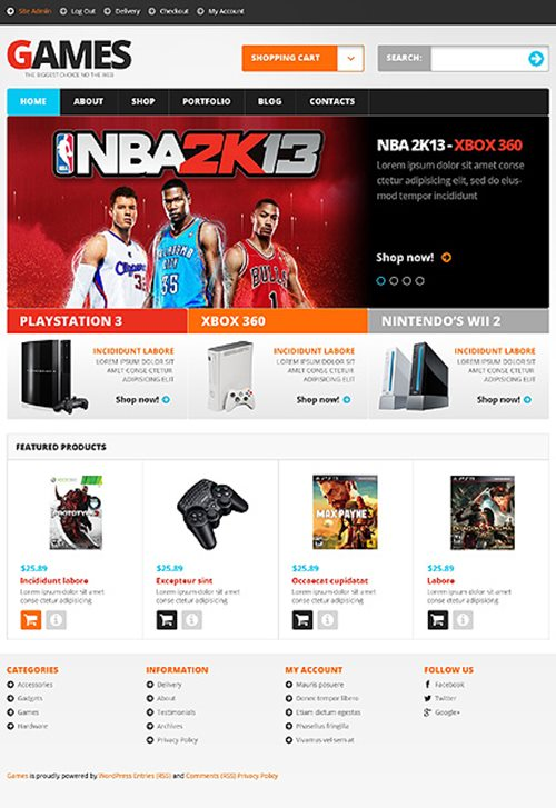 Video Games WooCommerce Theme