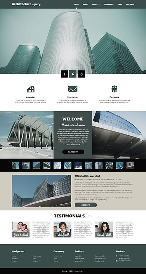 Architecture Business WordPress Theme
