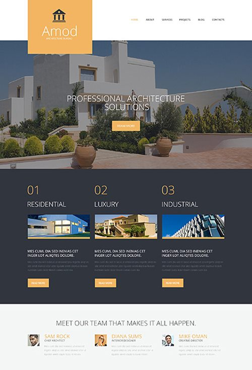 Pro Construction Office WordPress Theme