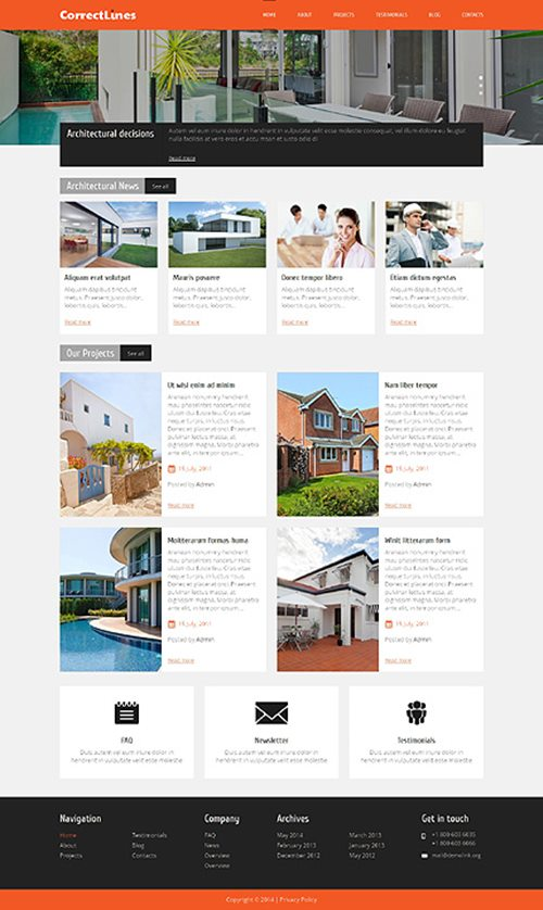 Ingenious Architecture WordPress Theme