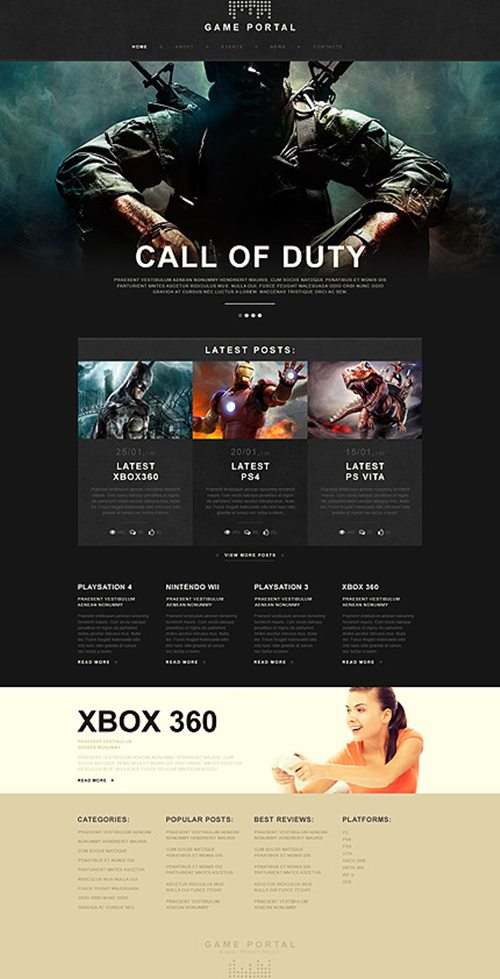 Game Portal Muse Template