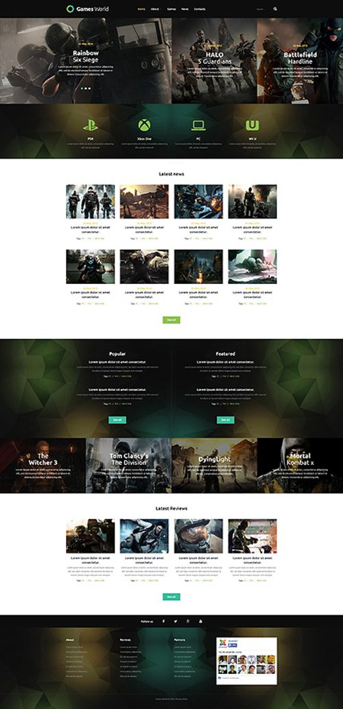 Game Portal Joomla Theme