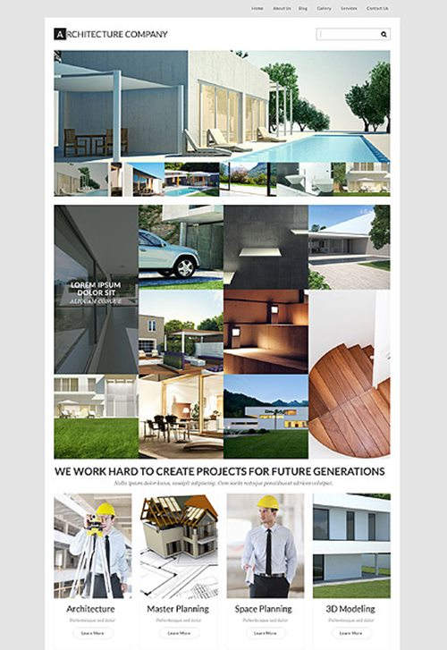 Architecture Firm WordPress Theme