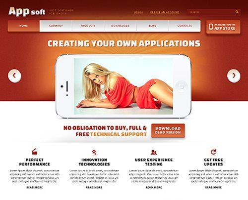 Smartphone Software Store WordPress Theme