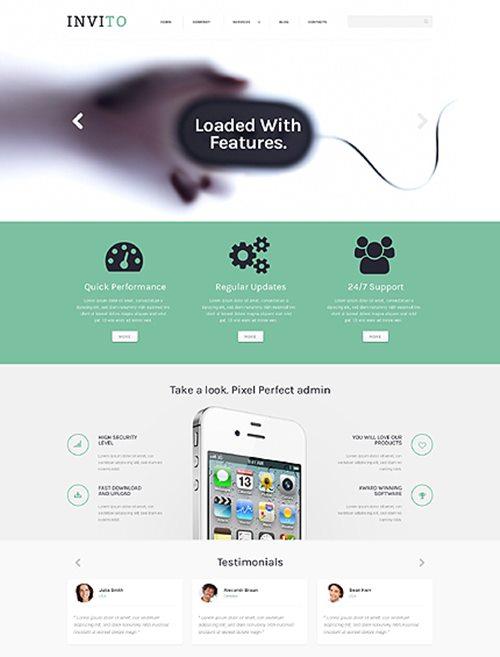 Blurred Mobile Company WordPress Theme