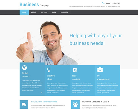 100 best free html css website templates 550 x free business responsive website template friedricerecipe Choice Image